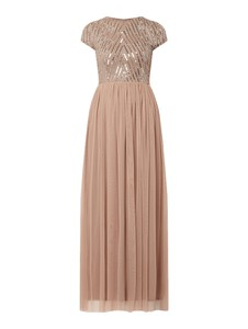 Różowa sukienka Lace & Beads maxi