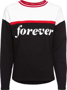 Bluza bonprix RAINBOW z dresówki krótka w sportowym stylu