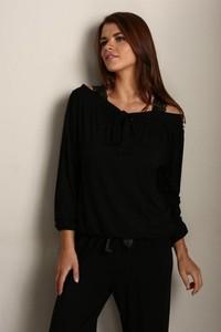 Czarna piżama Softcotton