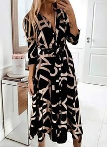 Sukienka Arilook z długim rękawem szmizjerka