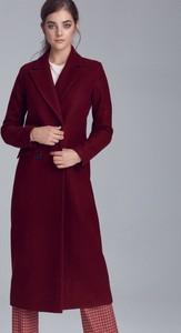 Czerwony płaszcz Nife z wełny