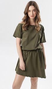Zielona sukienka born2be w stylu casual