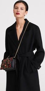 Czarna torebka Reserved mała z haftem
