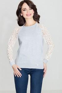 Bluzka LENITIF z okrągłym dekoltem z bawełny