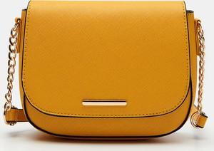 Żółta torebka Sinsay matowa