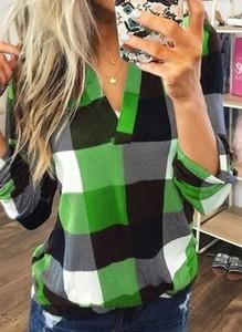 Zielona koszula Sandbella z długim rękawem