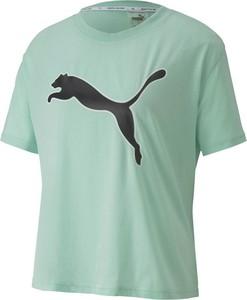 T-shirt Puma z nadrukiem z krótkim rękawem z bawełny