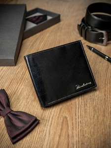 Czarny portfel męski Pierre Andreus