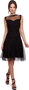 Sukienka Makeover z tiulu rozkloszowana midi