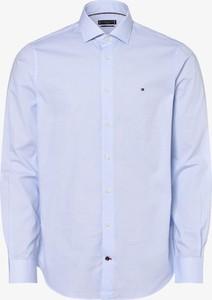 Niebieska koszula Tommy Hilfiger z klasycznym kołnierzykiem
