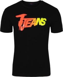 Czarny t-shirt Trussardi z krótkim rękawem z bawełny