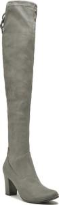 Kozaki Caprice ze skóry za kolano