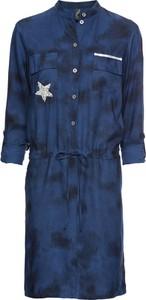 Niebieska sukienka bonprix RAINBOW na uczelnie w stylu glamour