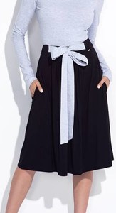 Czarna spódnica Bien Fashion midi z bawełny