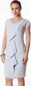 Semper sukienka błękitna z falą blanca
