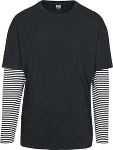 Czarna koszulka z długim rękawem Emp z bawełny