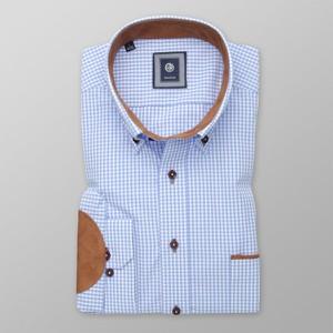 Niebieska koszula Willsoor w stylu casual z długim rękawem