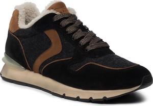 Czarne buty sportowe Voile Blanche sznurowane