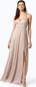 Sukienka Marie Lund z szyfonu bez rękawów maxi