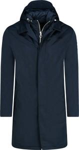 Granatowy płaszcz męski Armani Exchange