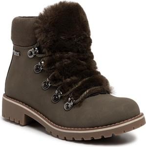 Brązowe buty dziecięce zimowe Nelli Blu