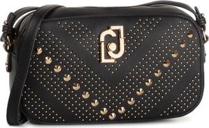 Czarna torebka Liu-Jo mała zdobiona na ramię