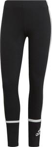 Czarne legginsy Adidas w sportowym stylu z bawełny
