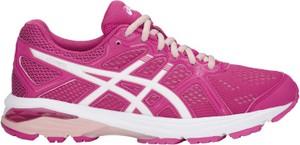 Różowe buty sportowe ASICS w sportowym stylu sznurowane