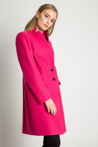 Różowy płaszcz BIALCON z tkaniny w stylu casual