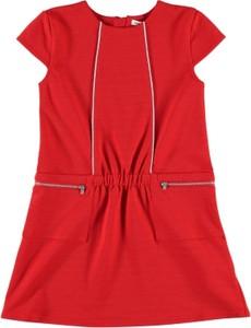 Czerwona sukienka dziewczęca French Connection
