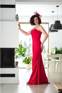Czerwona sukienka Pastelove Motyle z bawełny