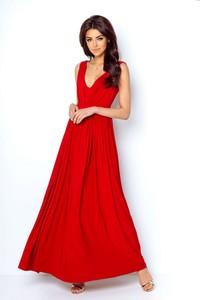 Sukienka Ivon z dekoltem w kształcie litery v maxi