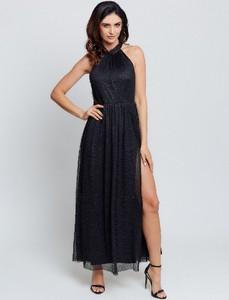Czarna sukienka Marselini maxi bez rękawów