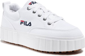 Buty sportowe Fila na platformie sznurowane w sportowym stylu
