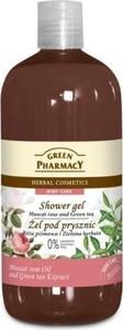 Elfa Pharm Green Pharmacy Żel pod prysznic Róża Piżmowa i Zielona Herbata, 500 ml