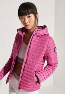 Różowa kurtka Superdry