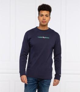 Niebieska koszulka z długim rękawem Tommy Jeans