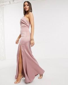 Różowa sukienka Missguided z dekoltem halter