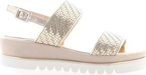 Złote sandały Luca Grossi z klamrami w stylu casual