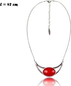POLSKA Krótki naszyjnik z czerwonym oczkiem