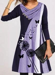 Fioletowa sukienka Cikelly