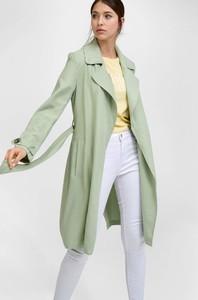 Zielony płaszcz ORSAY w stylu casual
