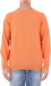 Pomarańczowy sweter Paul & Shark w stylu casual