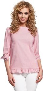 Różowa bluzka Merg w stylu boho