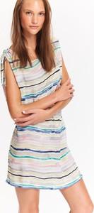 Sukienka Top Secret z tkaniny z okrągłym dekoltem w stylu casual