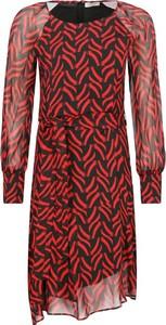 Sukienka Marella mini z okrągłym dekoltem z długim rękawem