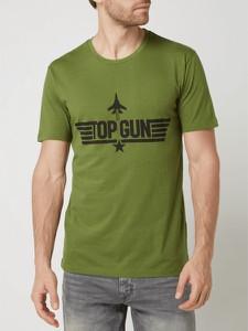 T-shirt Top Gun z bawełny z krótkim rękawem w młodzieżowym stylu