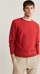 Czerwony sweter Mango Man z kaszmiru