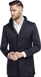 Niebieski płaszcz męski Giacomo Conti
