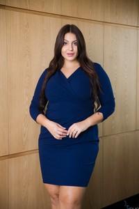 Niebieska sukienka tono.sklep.pl mini z długim rękawem